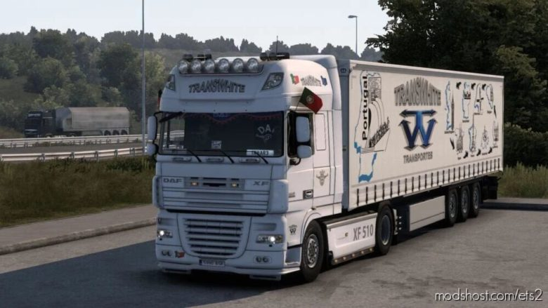 DAF XF 105 Transwhite Skin for Euro Truck Simulator 2