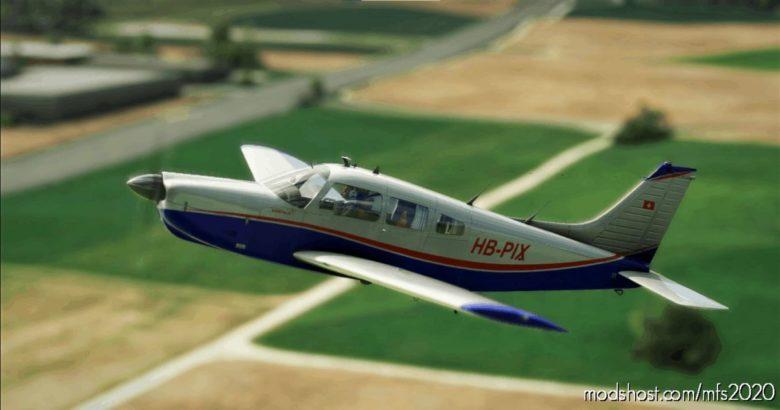 Justflight Piper P28R Arrow III   Hb-Pix (Fliegerschule Birrfeld) for Microsoft Flight Simulator 2020