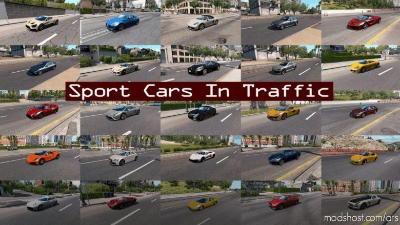 Sport Cars Traffic Pack By Trafficmaniac V8.2 for American Truck Simulator