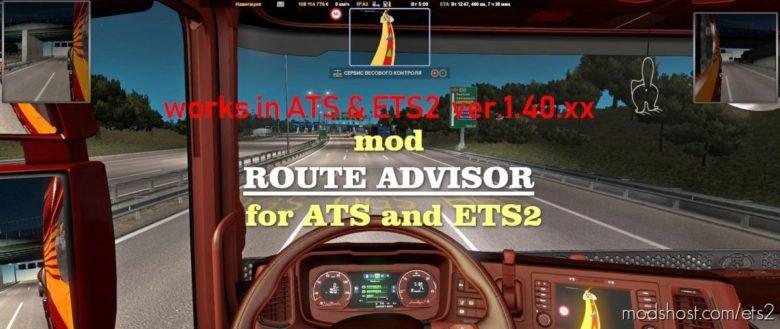 Route Advisor [1.40] Mod for Euro Truck Simulator 2