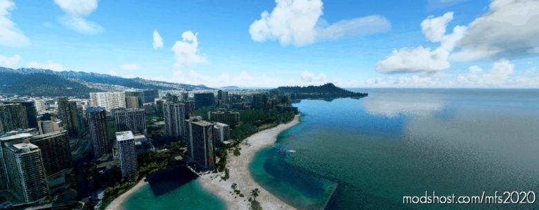 Waikiki, Hawaii for Microsoft Flight Simulator 2020