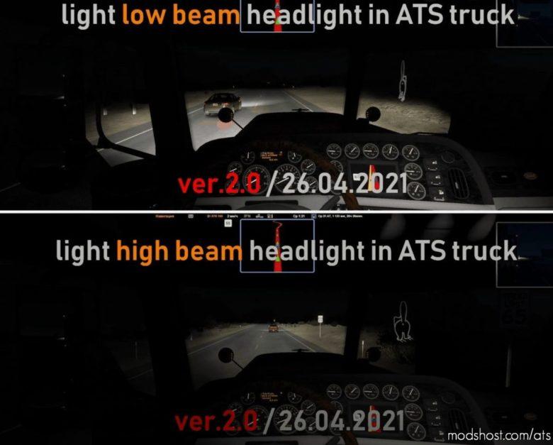Light Headlight Change [1.40] for American Truck Simulator