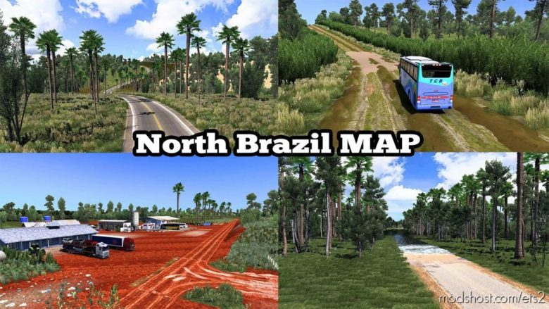North Brazil Map V5.4 [1.40] for Euro Truck Simulator 2