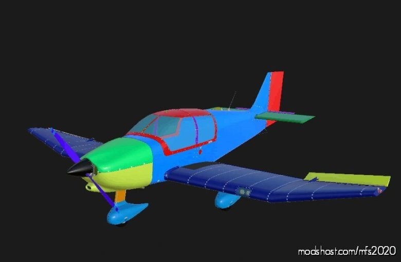 Asobo DR400 Substance Painter Paintkit for Microsoft Flight Simulator 2020