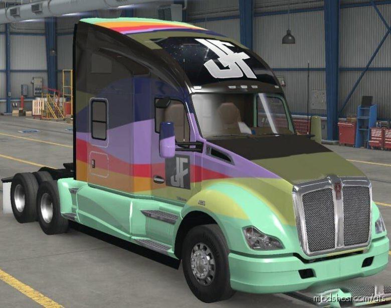 Jeff Favignano Custom Logo Waves for American Truck Simulator