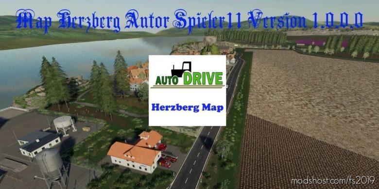 Autodrive Course Herzberg Map for Farming Simulator 19