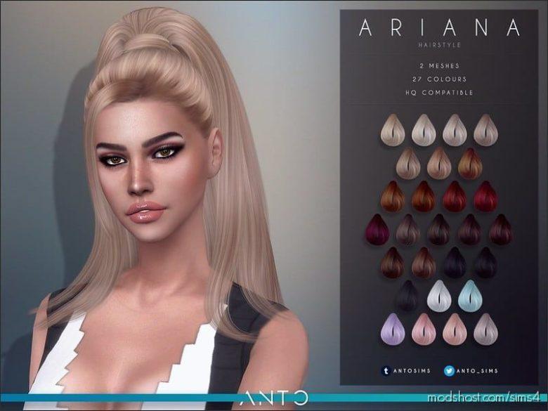 Ariana Hair for The Sims 4