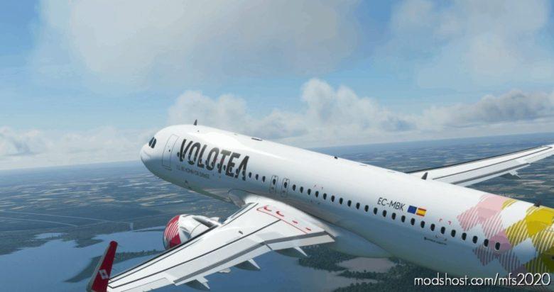[A32NX] Volotea A320Neo Ec-Mbk 8K for Microsoft Flight Simulator 2020