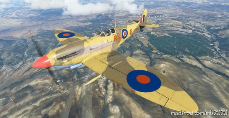 Supermarine Spitfire Mk.ix NO 72 Squadron RN-B for Microsoft Flight Simulator 2020