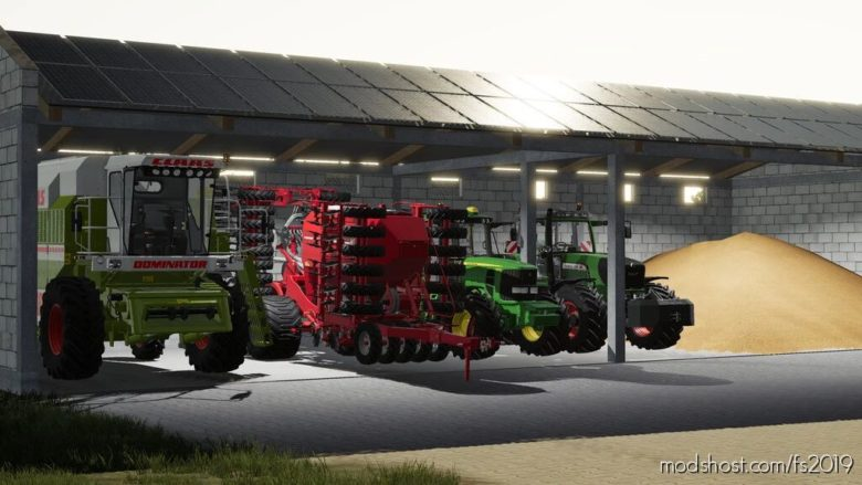 Hall With Solar Panels for Farming Simulator 19