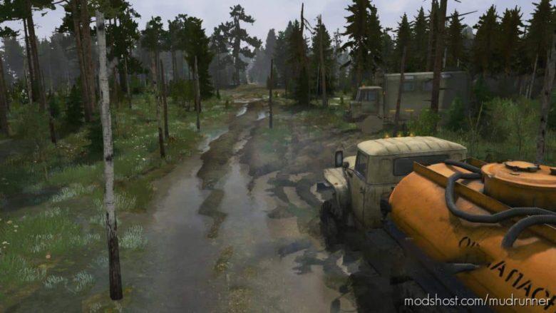 Spring Forest Map for MudRunner