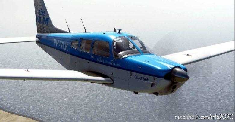 Justflight PA28R Arrow III – KLM Ph-Vlk City Of Eelde for Microsoft Flight Simulator 2020