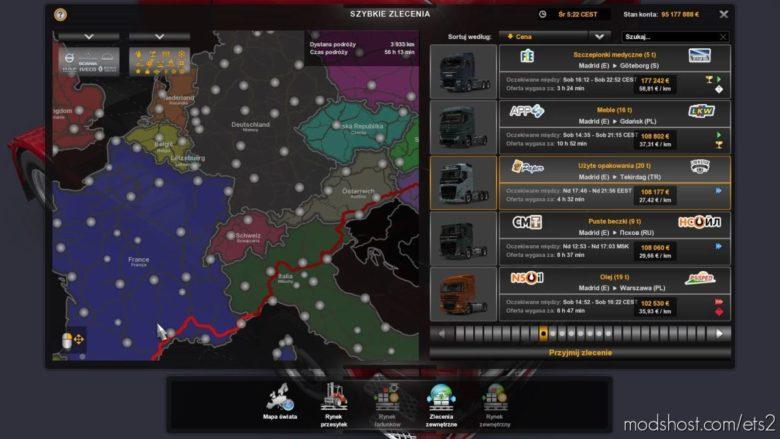 World Map HD [1.40] for Euro Truck Simulator 2