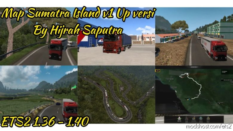 Map Sumatra Island Update Version for Euro Truck Simulator 2