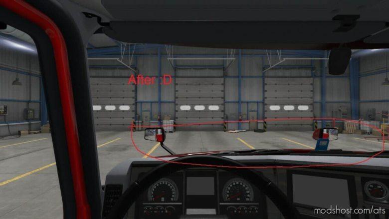 Mack Anthem Interior View Hood FIX V2.1 for American Truck Simulator