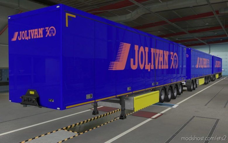 Skin SCS Trailers Transportadora Jolivan 30 Anos [1.40] for Euro Truck Simulator 2
