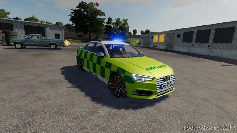 Audi S4 UK Emergency Vehciles Pack for Farming Simulator 19