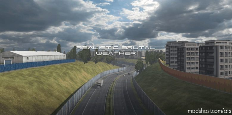 Realistic Brutal Weather Unforgiving V3.6 [1.40] for American Truck Simulator