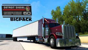 Detroit Diesel 60 Straight Pipes Bigpack for American Truck Simulator