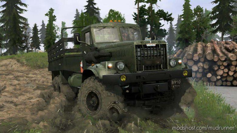 Kraz-255B – Recycling Truck for MudRunner