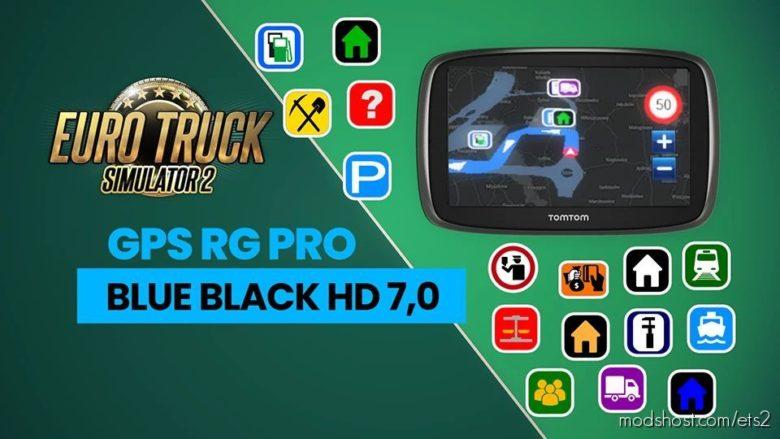 GPS RG PRO Blue Black HD V7.0 for Euro Truck Simulator 2