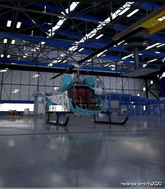 Flyinside Bell 47 G Livery Blue for Microsoft Flight Simulator 2020