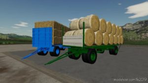 BSS & RáBA Bale Trailer for Farming Simulator 19