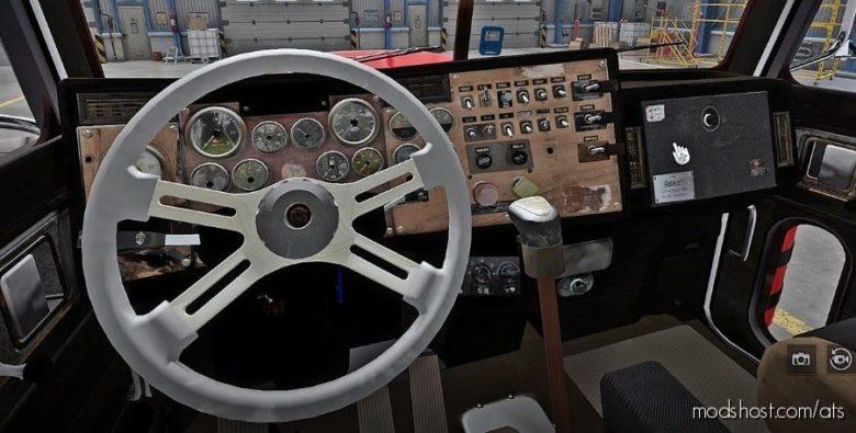 High RES Worn Interior For Viper's Peterbilt 379 for American Truck Simulator