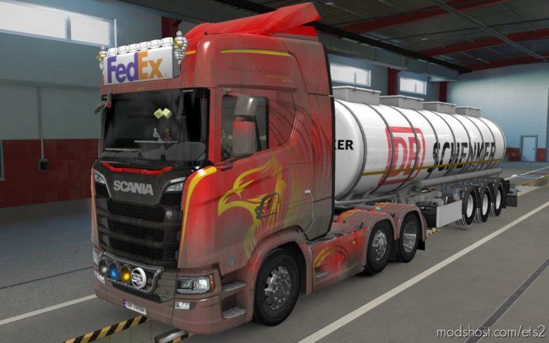 BIG Lightbox Scania R And S 2016 Fedex [1.40] for Euro Truck Simulator 2