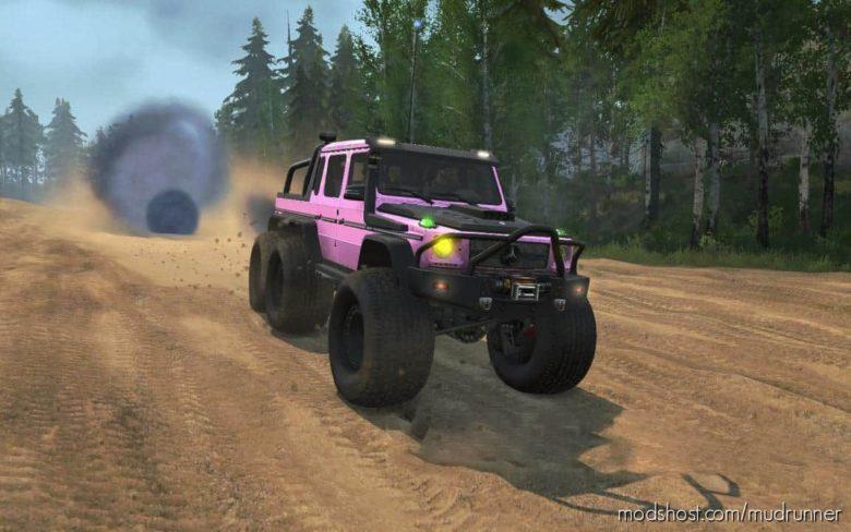Pink Gelendvagen 6×6 for MudRunner