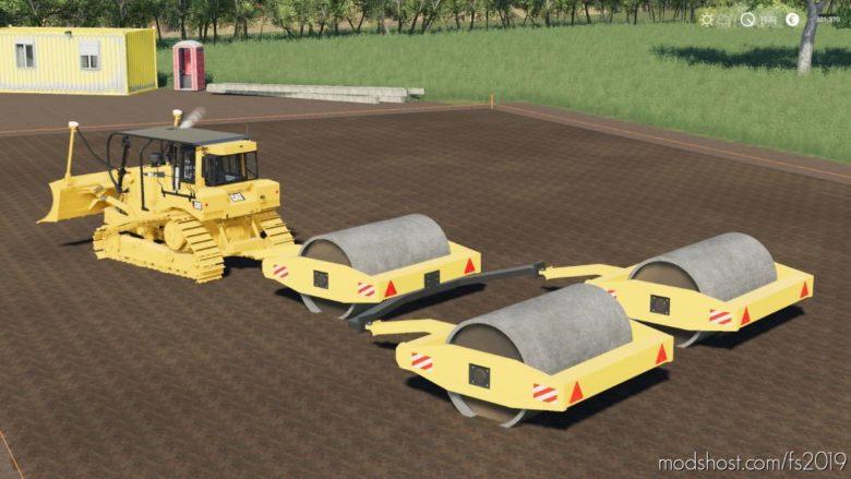 Trailer Compactor Roller for Farming Simulator 19