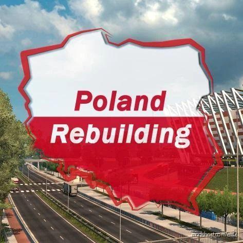 Poland Rebuilding 2.5 Show Road FIX V1.1 [1.40] for Euro Truck Simulator 2