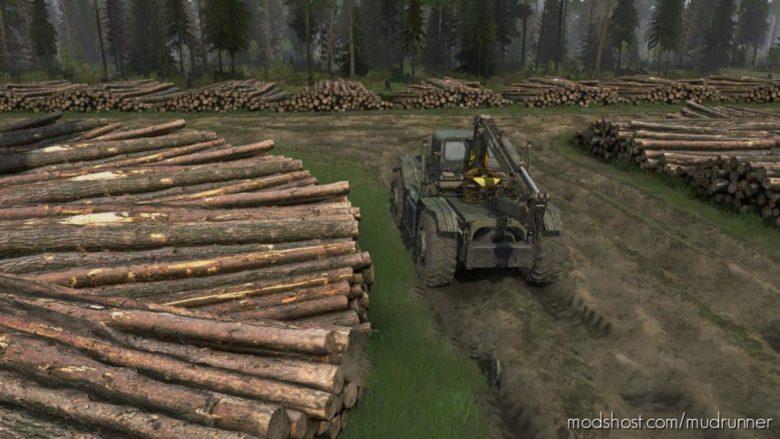 Forest Game Map V25.05.21 for MudRunner