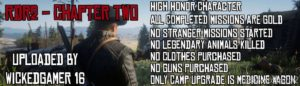 Chapter 2 Save File for Red Dead Redemption 2