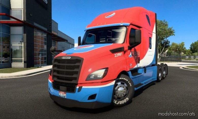 Freightliner Cascadia Pepsi Edition for American Truck Simulator