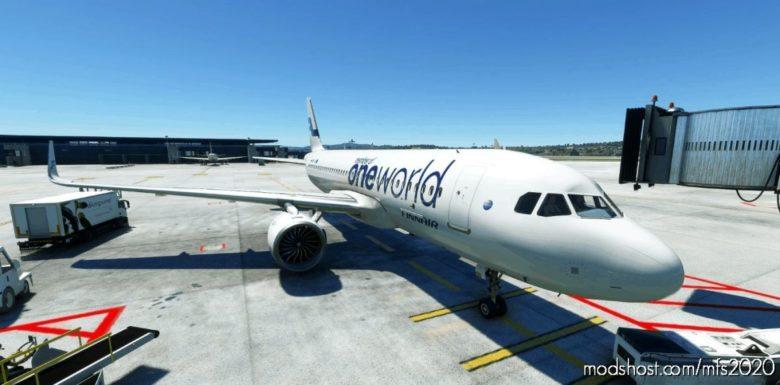 A320Neo Finnair Oneworld Livery 8K for Microsoft Flight Simulator 2020