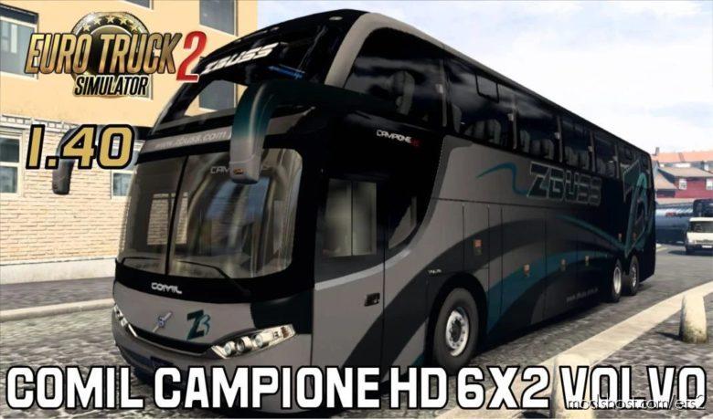 Comil Campione HD 6X2 Volvo – [1.40] for Euro Truck Simulator 2