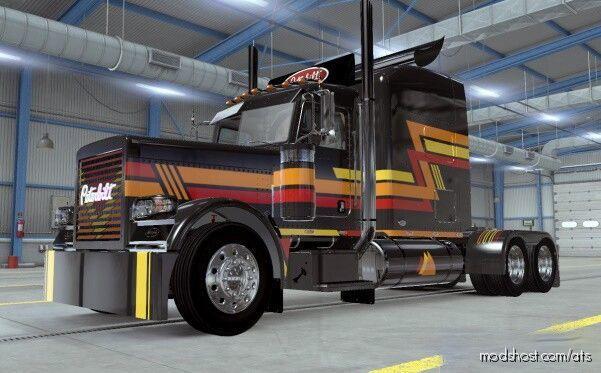 Paintable Skin For Modified Peterbilt 389 V2.3 [1.40] for American Truck Simulator