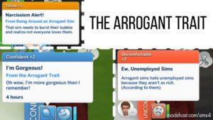 The Arrogant Trait for The Sims 4