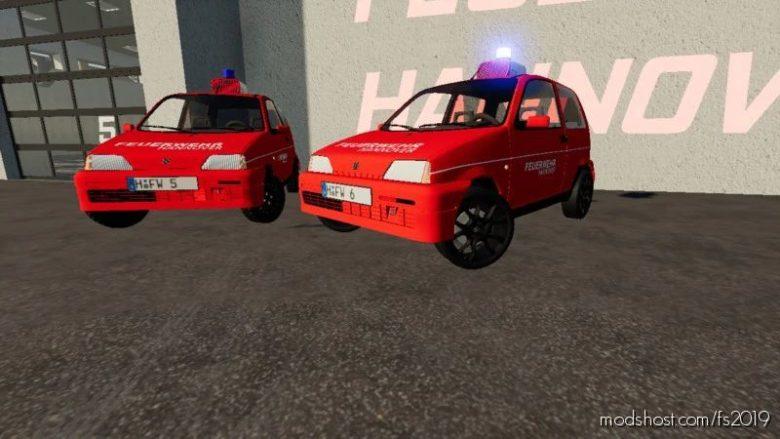 Fiat Cinquecento 1991 Fire Brigade Hanover for Farming Simulator 19