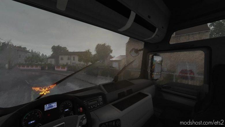Realistic Heavy Rain V1.5 By Srinsane [1.40] for Euro Truck Simulator 2
