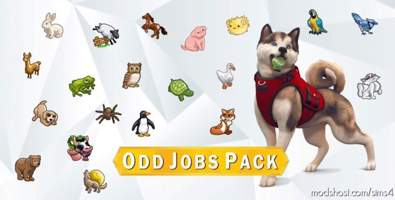 Mega ODD JOB Pack – 20 Animal Themed Jobs for The Sims 4