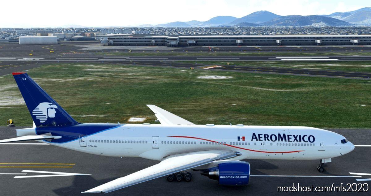 [8K] [2.0] Aeromexico N774AM CS 777-200 Livery [Fixed] V2.0 for Microsoft Flight Simulator 2020