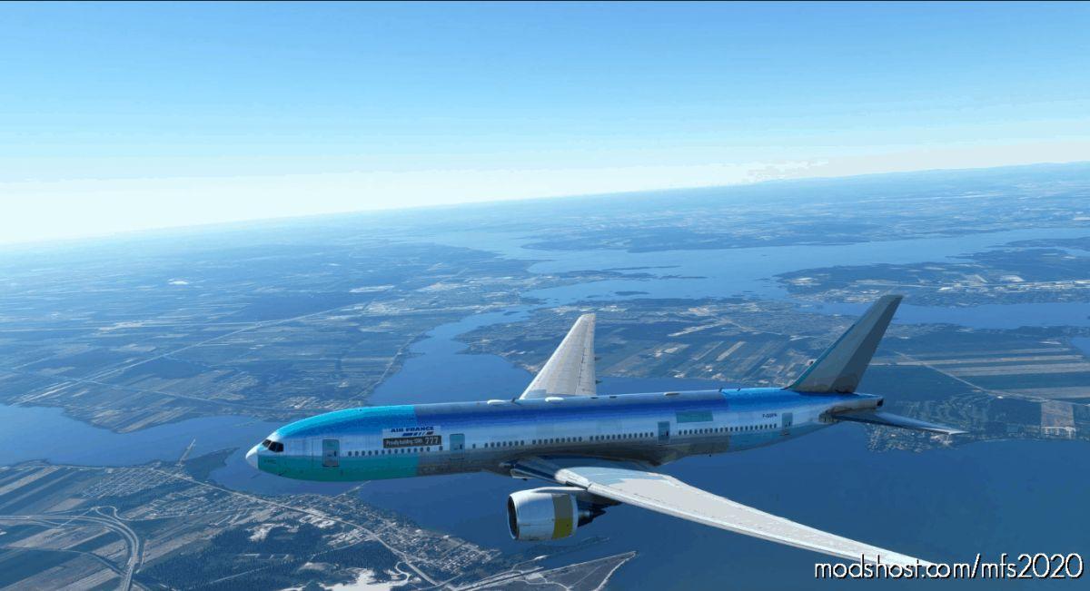 AIR France B777 -200 Primer Paint for Microsoft Flight Simulator 2020