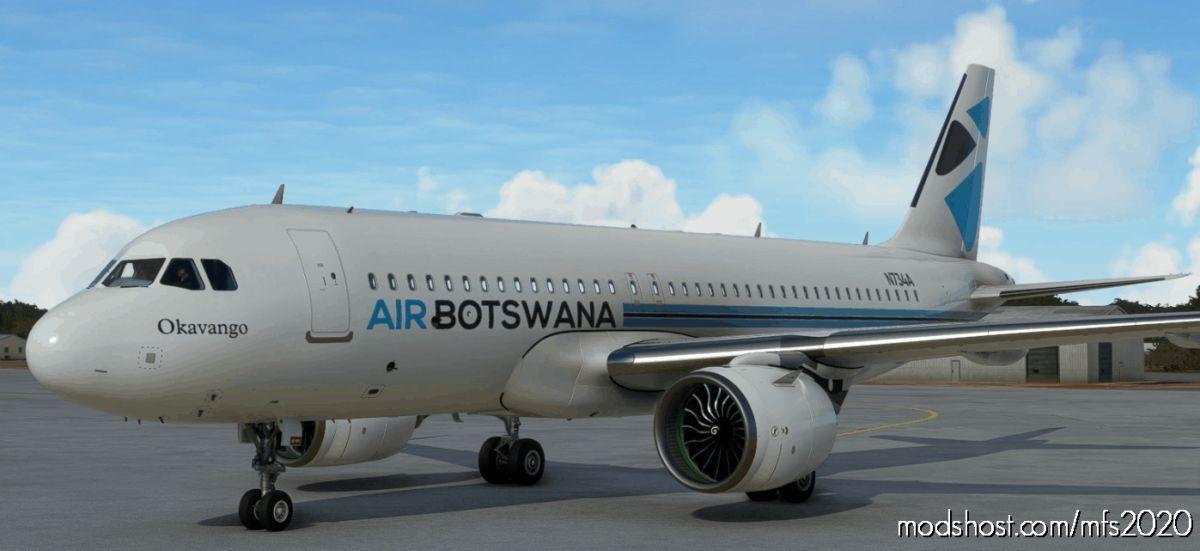 A320Neo (Asobo) AIR Botswana [8K Fictional] for Microsoft Flight Simulator 2020