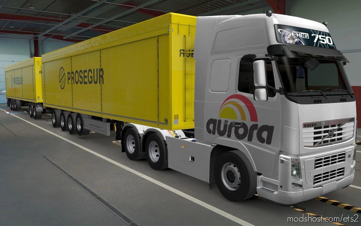 Skin Volvo FH16 2009 Aurora By Rodonitcho Mods [1.40] for Euro Truck Simulator 2