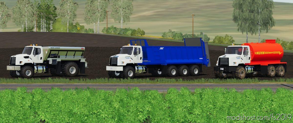 Freightliner 108SD With JBS VMT2248 Manure Spreader for Farming Simulator 19