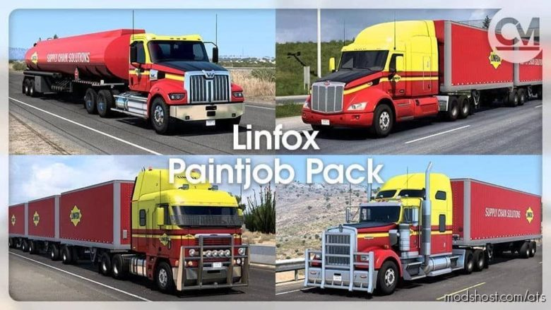 Linfox Paintjob Pack V1.5 for American Truck Simulator