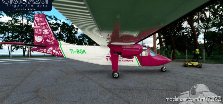 Costa Rica Green Airways | Ti-Bgk | Blackbox Britten Norman BN2 Islander (4K) for Microsoft Flight Simulator 2020