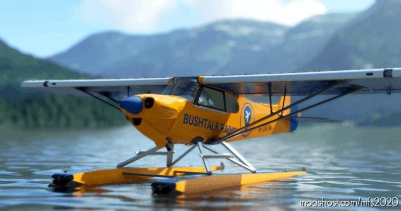 Cubcrafters Xcub Float – Bushtalk Radio Livery for Microsoft Flight Simulator 2020